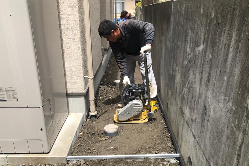 神戸市垂水区 F様邸の施工中写真1
