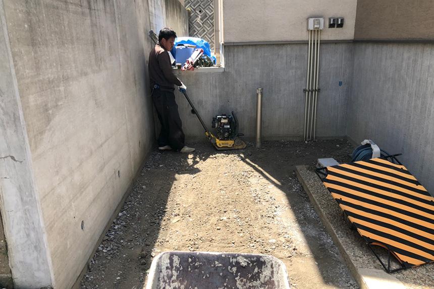 神戸市垂水区 F様邸の施工中写真3