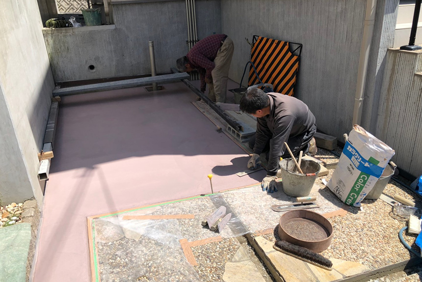 神戸市垂水区 F様邸の施工中写真6