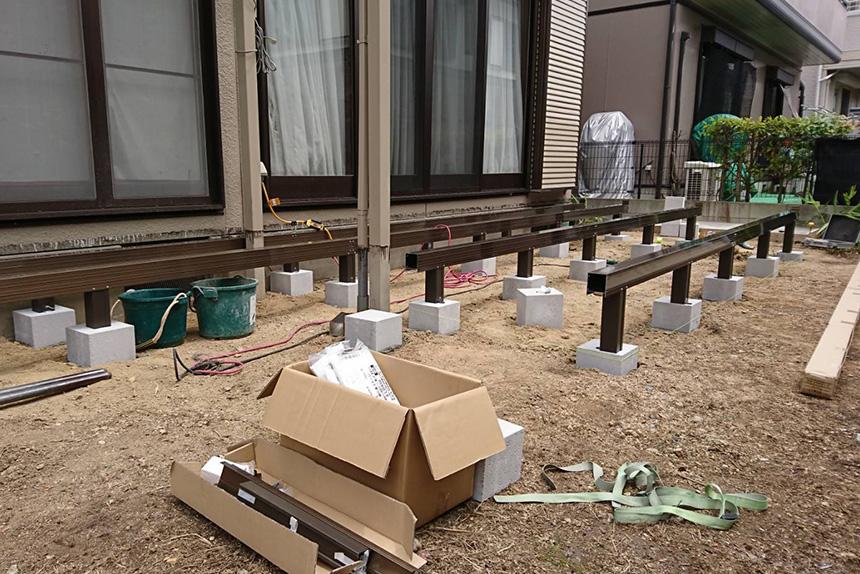 神戸市西区H様邸の施工中の様子2