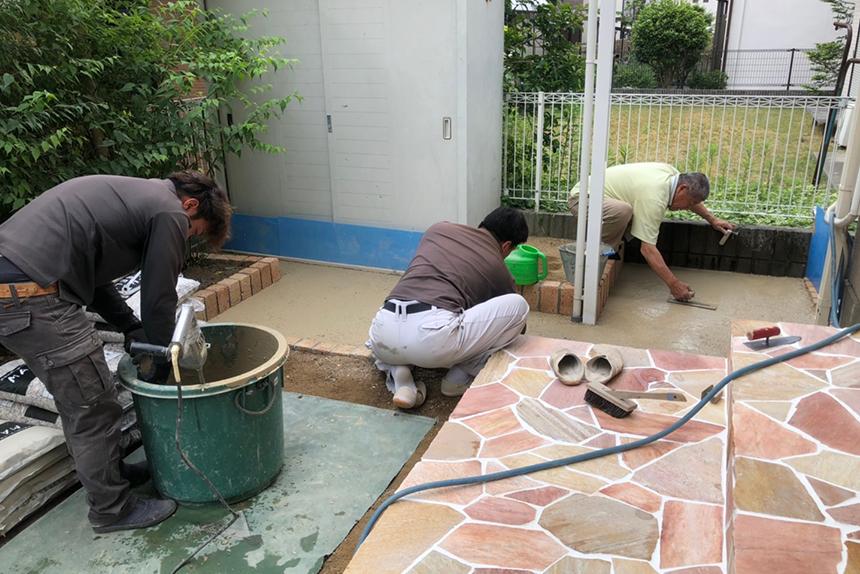 神戸市西区T様の施工中写真1