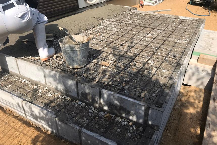 神戸市西区I様邸の施工中写真1
