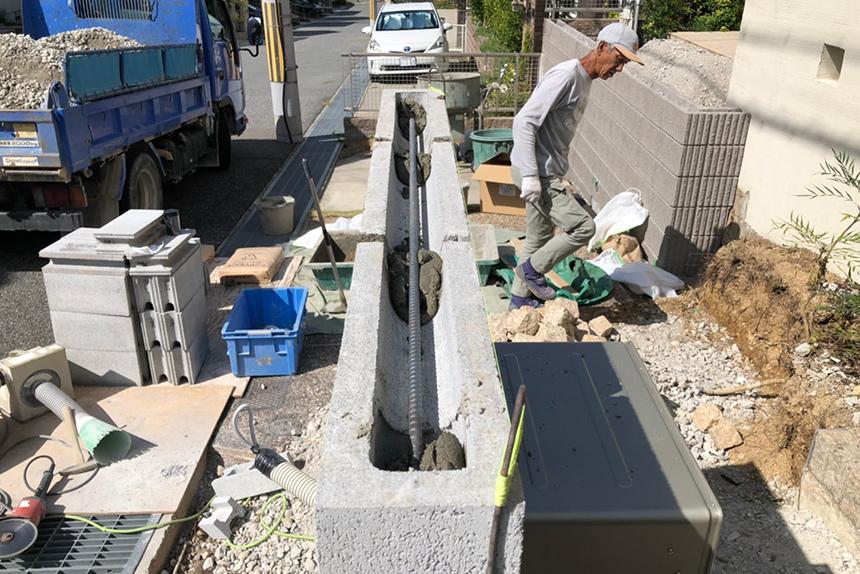 神戸市西区F様邸の施工中写真5