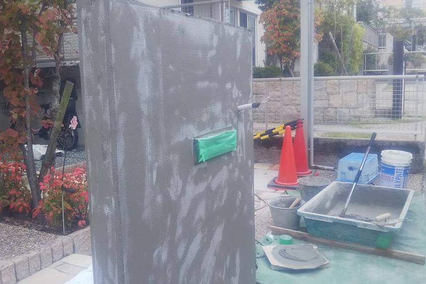 神戸市西区F様邸の施工中写真1