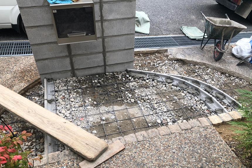 神戸市西区F様邸の施工中写真2