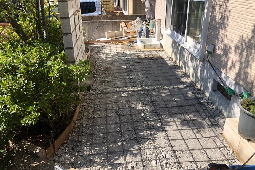 神戸市西区H様邸の施工中写真6