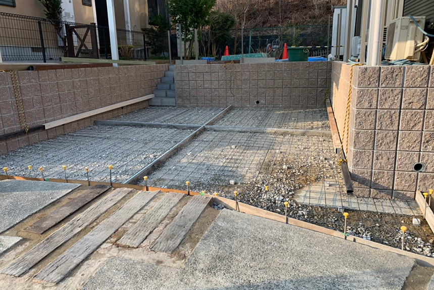 神戸市西区U様邸の施工中写真15