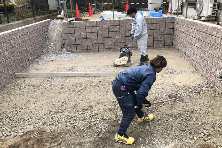 神戸市西区U様邸の施工中写真17