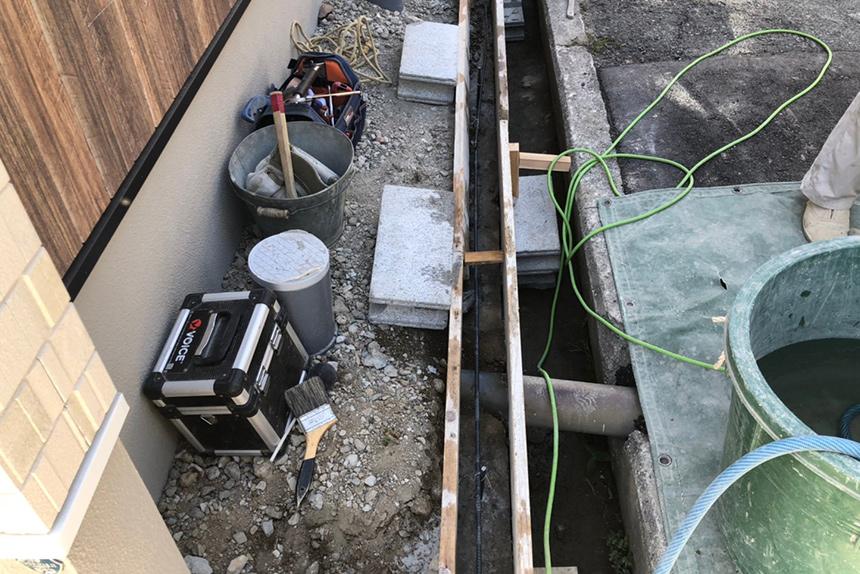 神戸市垂水区 S様邸の施工中写真1