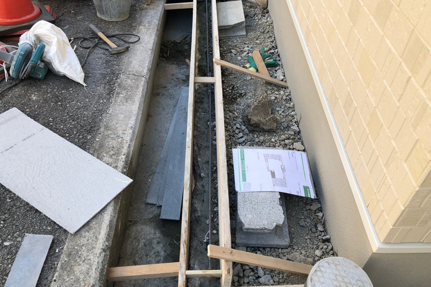 神戸市垂水区 S様邸の施工中写真2