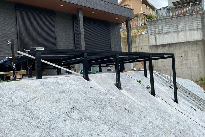 神戸市須磨区O様邸の施工中写真1