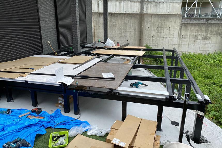 神戸市須磨区O様邸の施工中写真2
