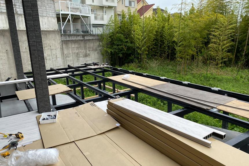 神戸市須磨区O様邸の施工中写真6