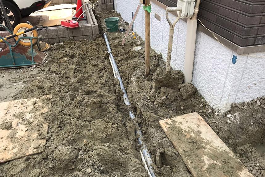 神戸市垂水区 M様邸の施工中写真1