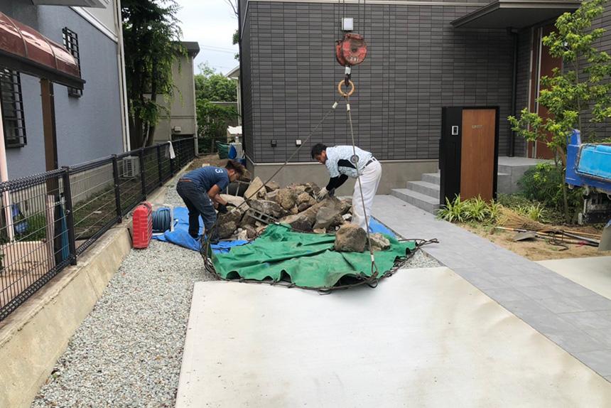 神戸市垂水区 U様邸の施工中写真1