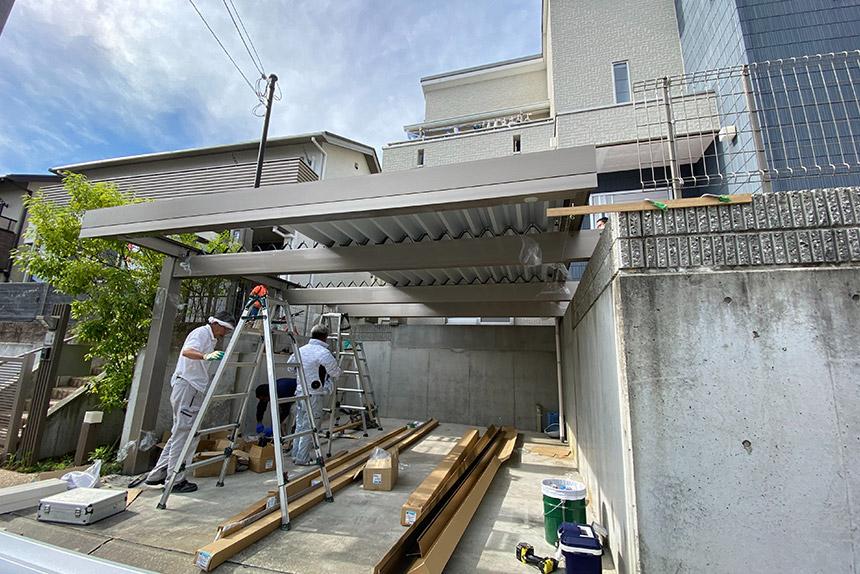 神戸市垂水区 N様邸の施工中写真2