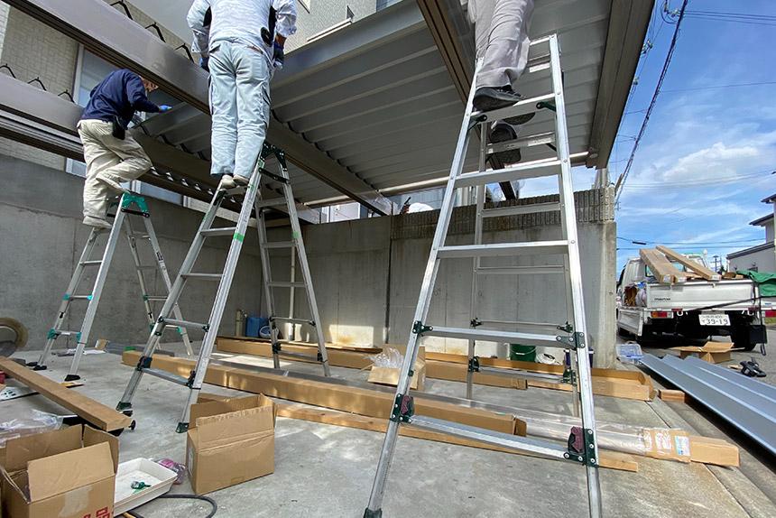 神戸市垂水区 N様邸の施工中写真3