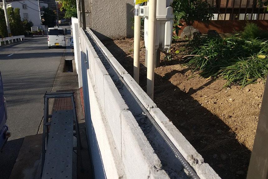 神戸市須磨区K様邸 施工中の様子