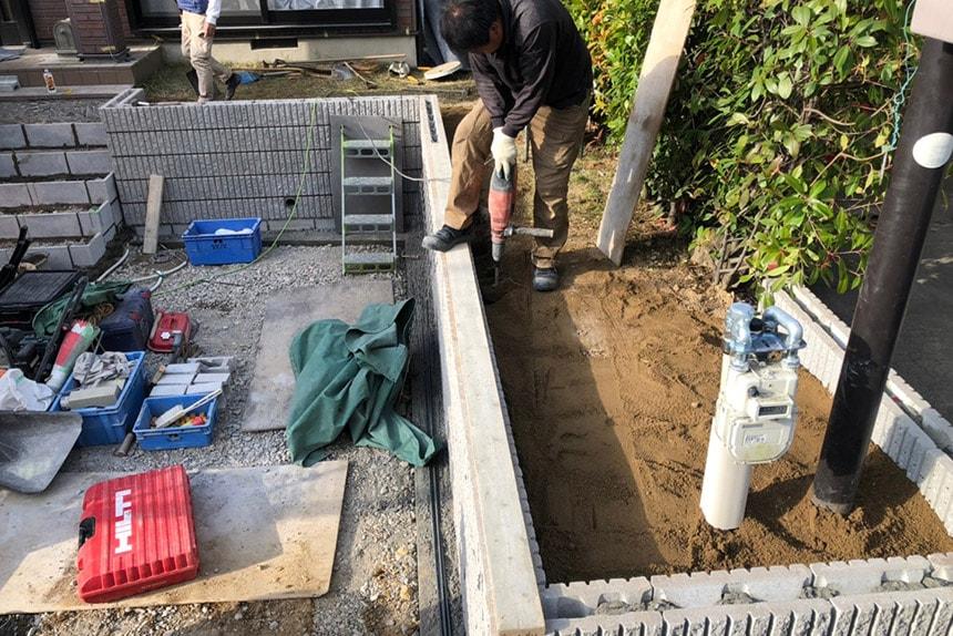 神戸市西区K様邸の施工中写真
