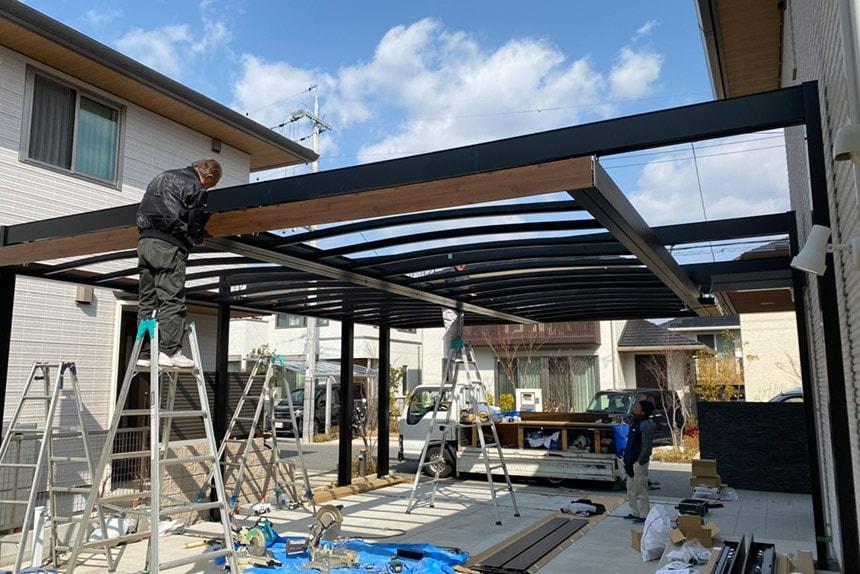 神戸市西区T様邸の施工中写真