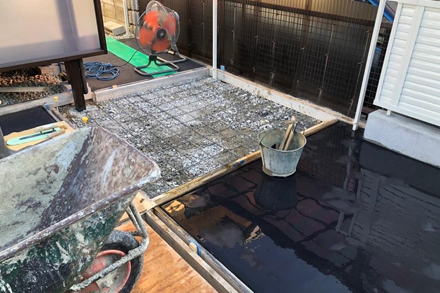 神戸市西区O様邸の施工中写真