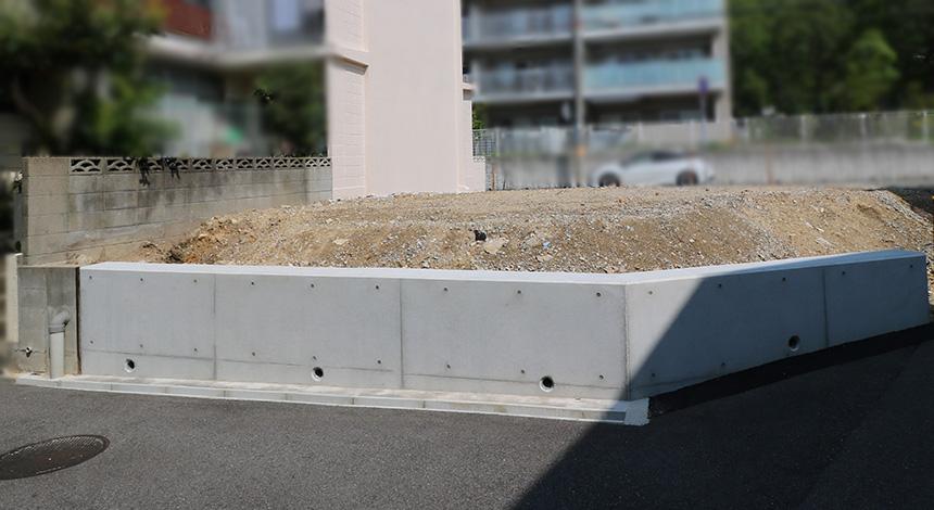 新築建築前の擁壁工事もおまかせ下さい